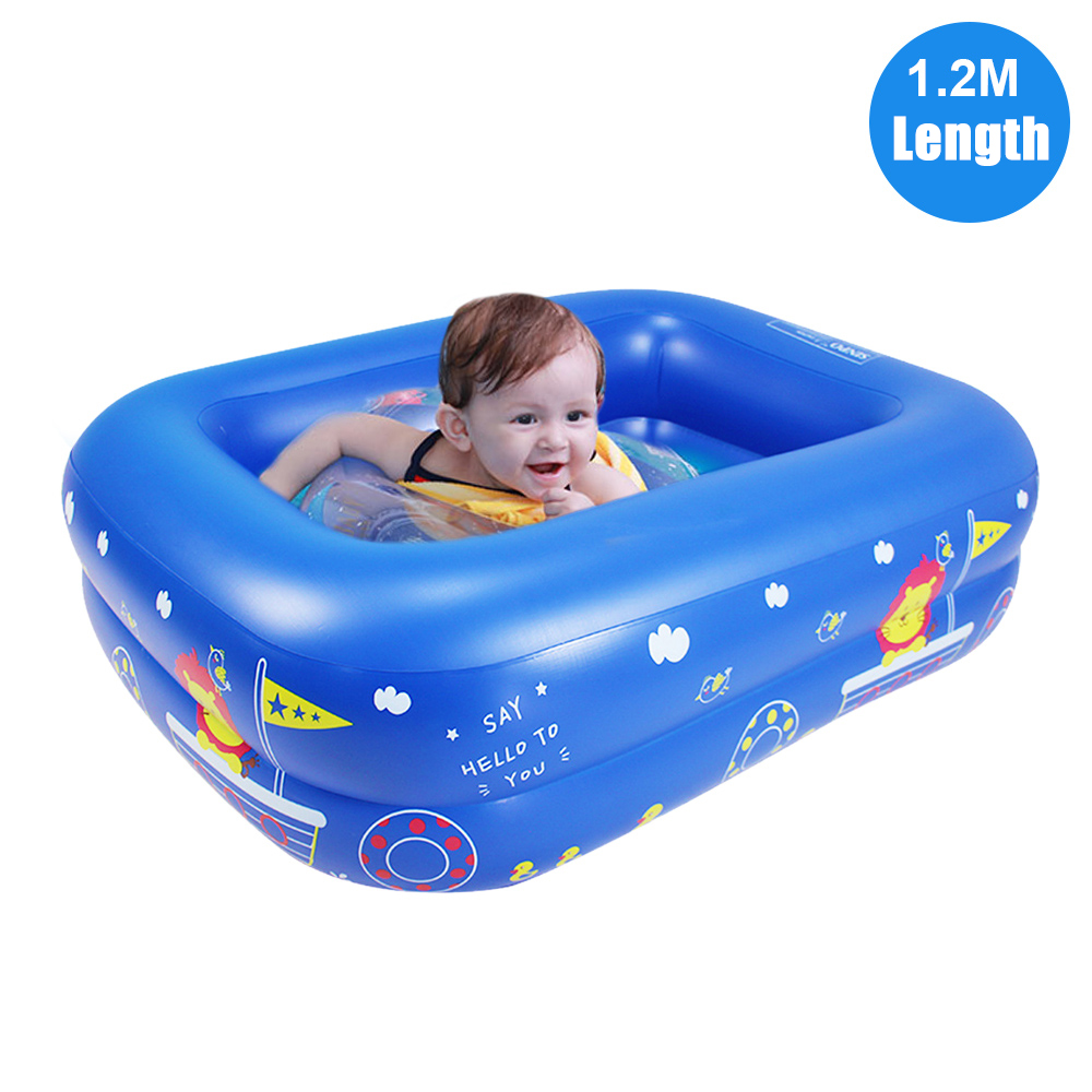 Inflatable Swimming Pools For Toddler 1 2m Length Swim Center Kiddies Pool For Babies Toddlers Pets Garden Backyard Walmart Canada
