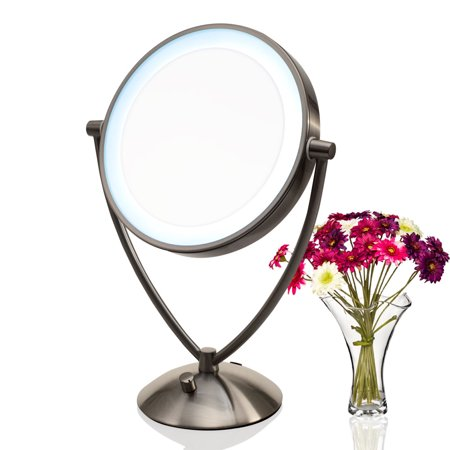 Ovente 9 5 Lighted Tabletop Makeup Mirror Battery Or Usb