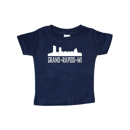 Grand Rapids Michigan Skyline MI Cities Baby T-Shirt (Halloween Usa Grand Rapids Mi)