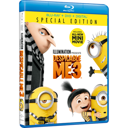 Despicable Me 3 (Special Edition) (Blu-ray + DVD + Digital - Despicable Me Fabric