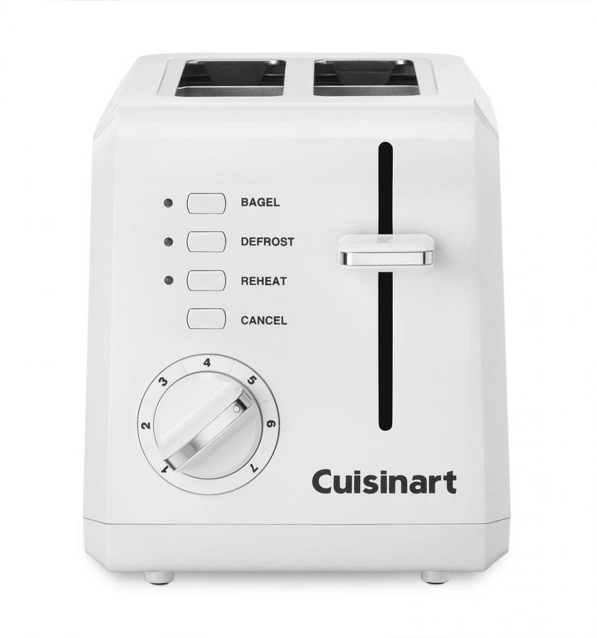 Cuisinart 2-Slice Compact Plastic Toaster, White