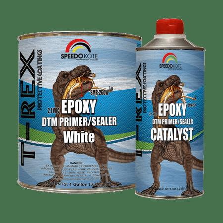 Epoxy Fast Dry 2.1 low voc DTM Primer & Sealer White Gallon Kit,