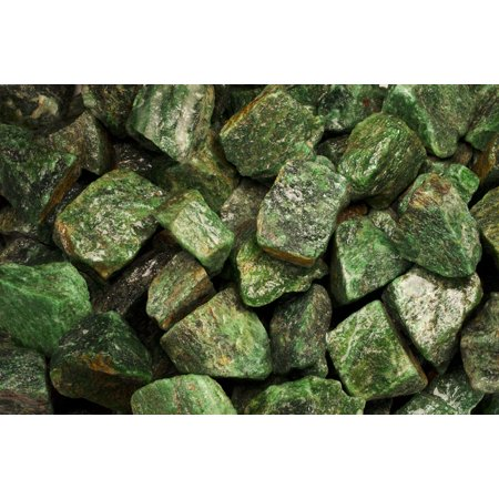 Fantasia Crystal Vault: 3 lb Dark Green Aventurine Rough Stones from Asia - Large 1