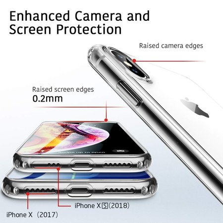 brand new bcaf5 8a6bf Air Slim Clear Soft Case for iPhone XS/X, by ESR Thin Slim 0.98mm Soft TPU  Case, Flexible Silicone Protective Cover Anti-Scratch, Clear