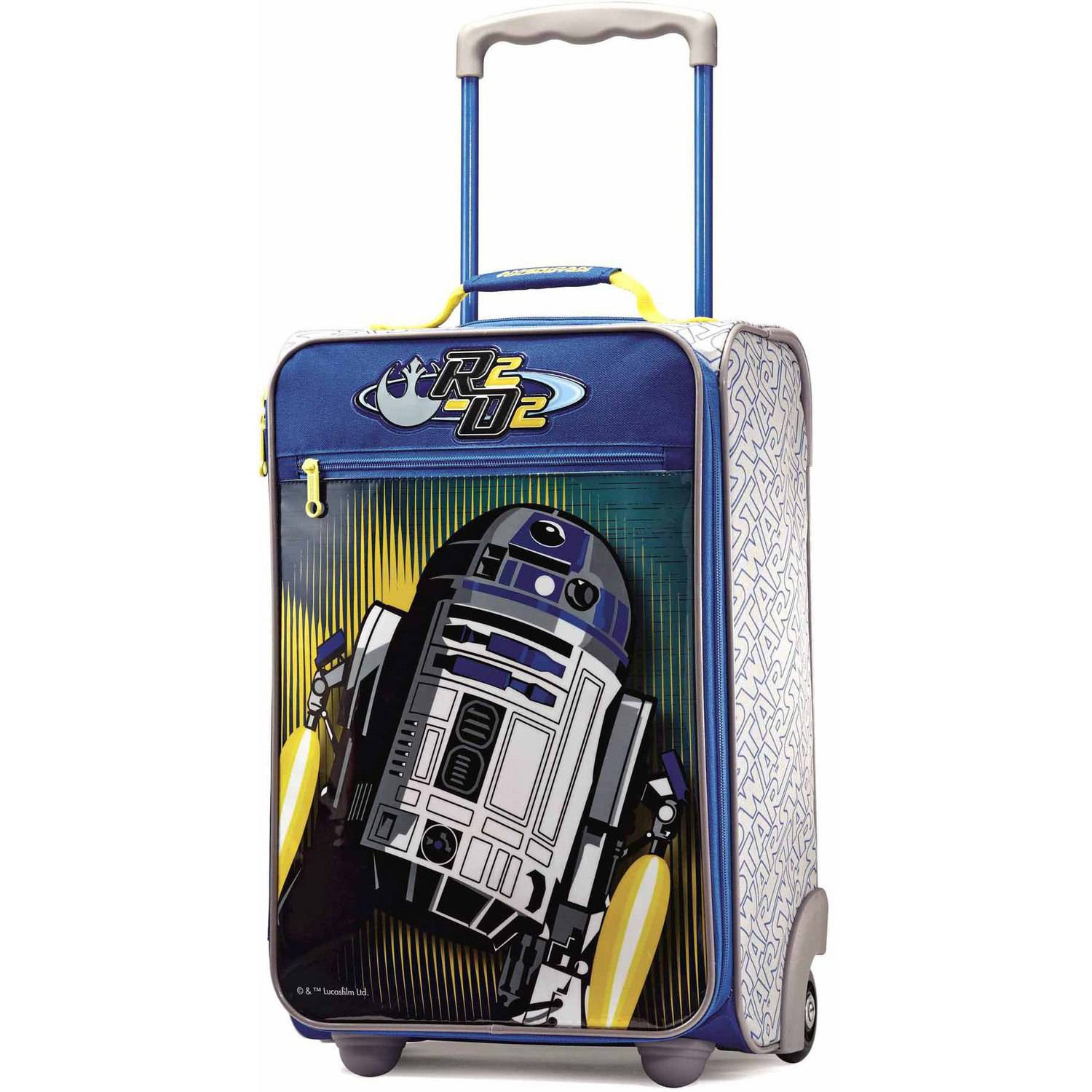 "American Tourister Disney Star Wars R2D2 18"" Upright Soft Side Suitcase"