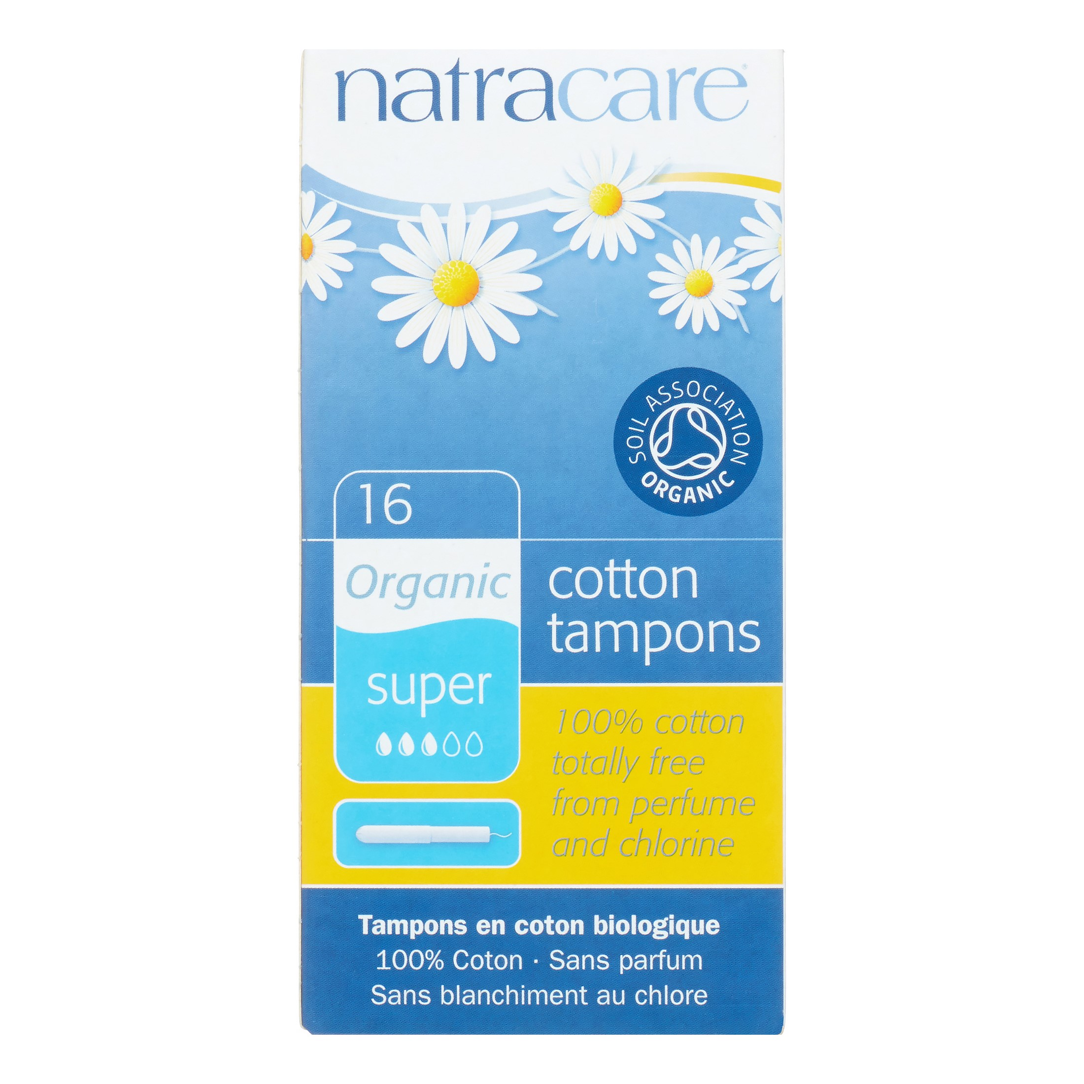 Natracare Natural Organic Cotton Tampons, Super, 16 Ct