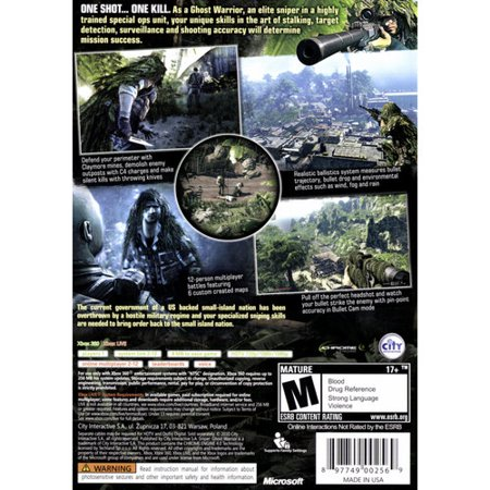 Sniper: Ghost Warrior (Xbox 360) City Interactive, 897749002569