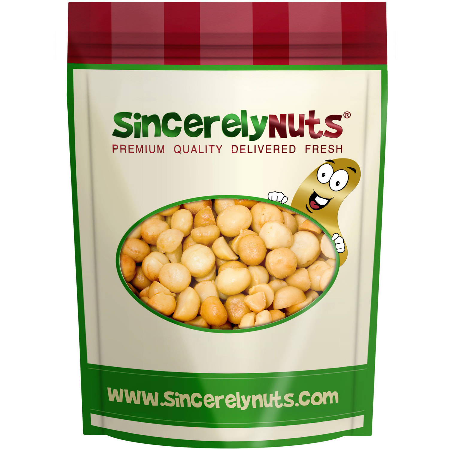 Sincerely Nuts Macadamia Nuts Roasted Salted, 2 LB Bag by Sincerely Nuts