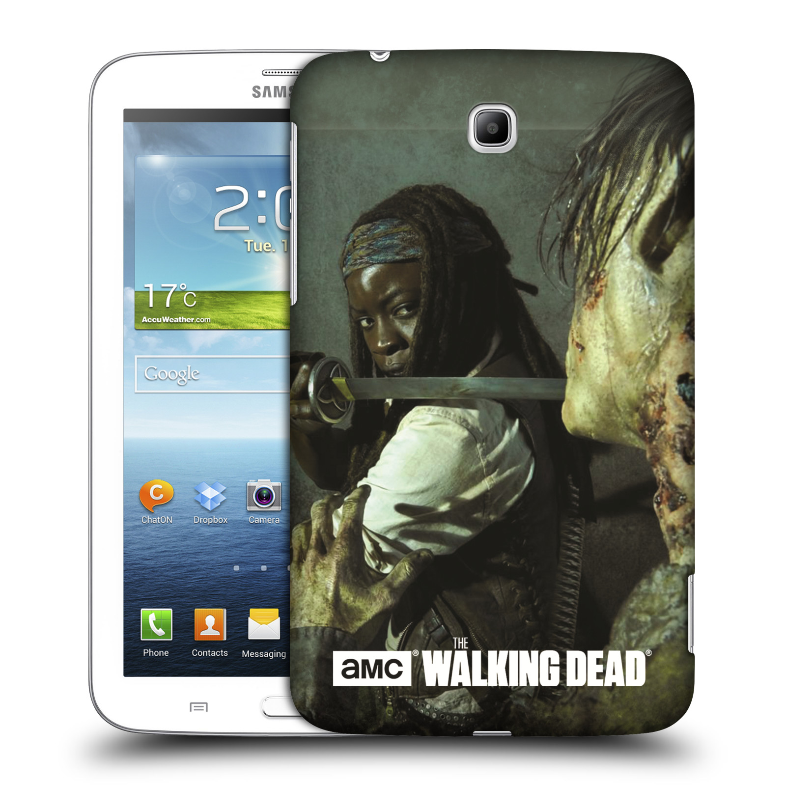 OFFICIAL AMC THE WALKING DEAD FILTER CHARACTER HARD BACK CASE FOR SAMSUNG TABLETS 1
