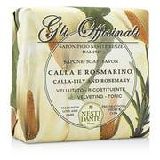 Gli Officinali Soap - Calla-Lily & Rosemary - Velveting & Tonic 7oz