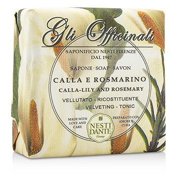 Gli Officinali Soap - Calla-Lily & Rosemary - Velveting & Tonic 7oz