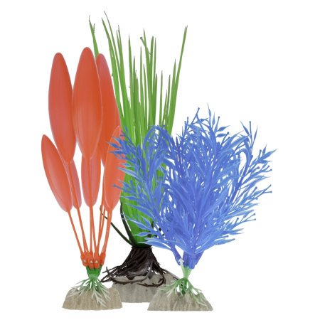 (2 Pack) GloFish Multipack Plastic Plants for Aquariums, -