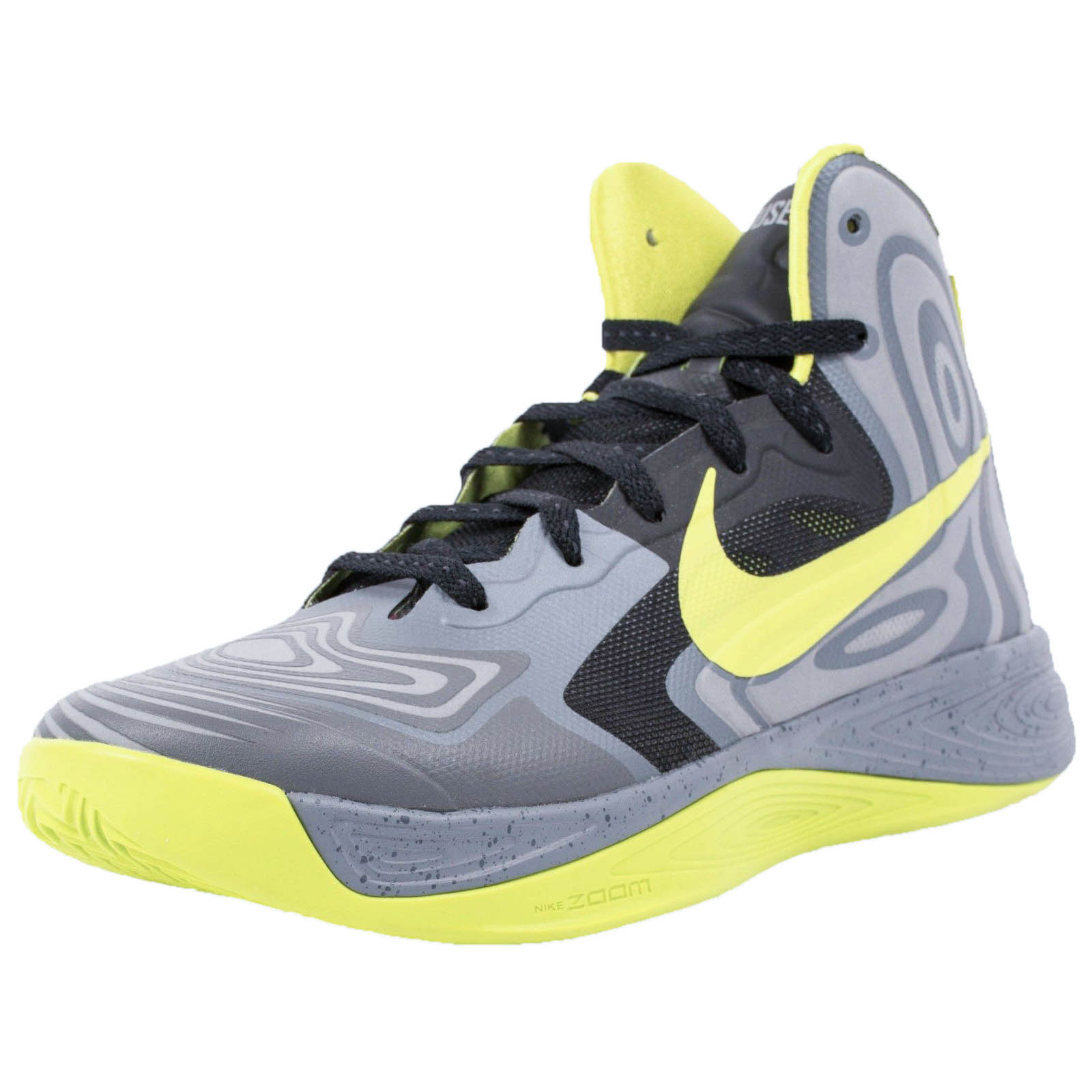 Nike HYPERFUSE SUPREME BASKETBALL SHOES COOL GREY ATOMIC ...