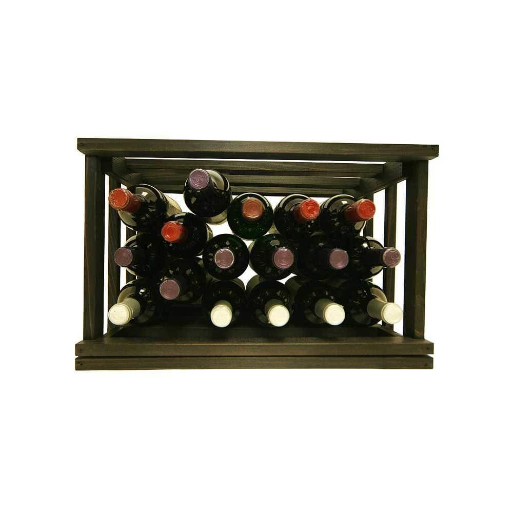 Wine Cellar Innovations  Mini-Stack Series Midnight Black Stain Stackable Bin
