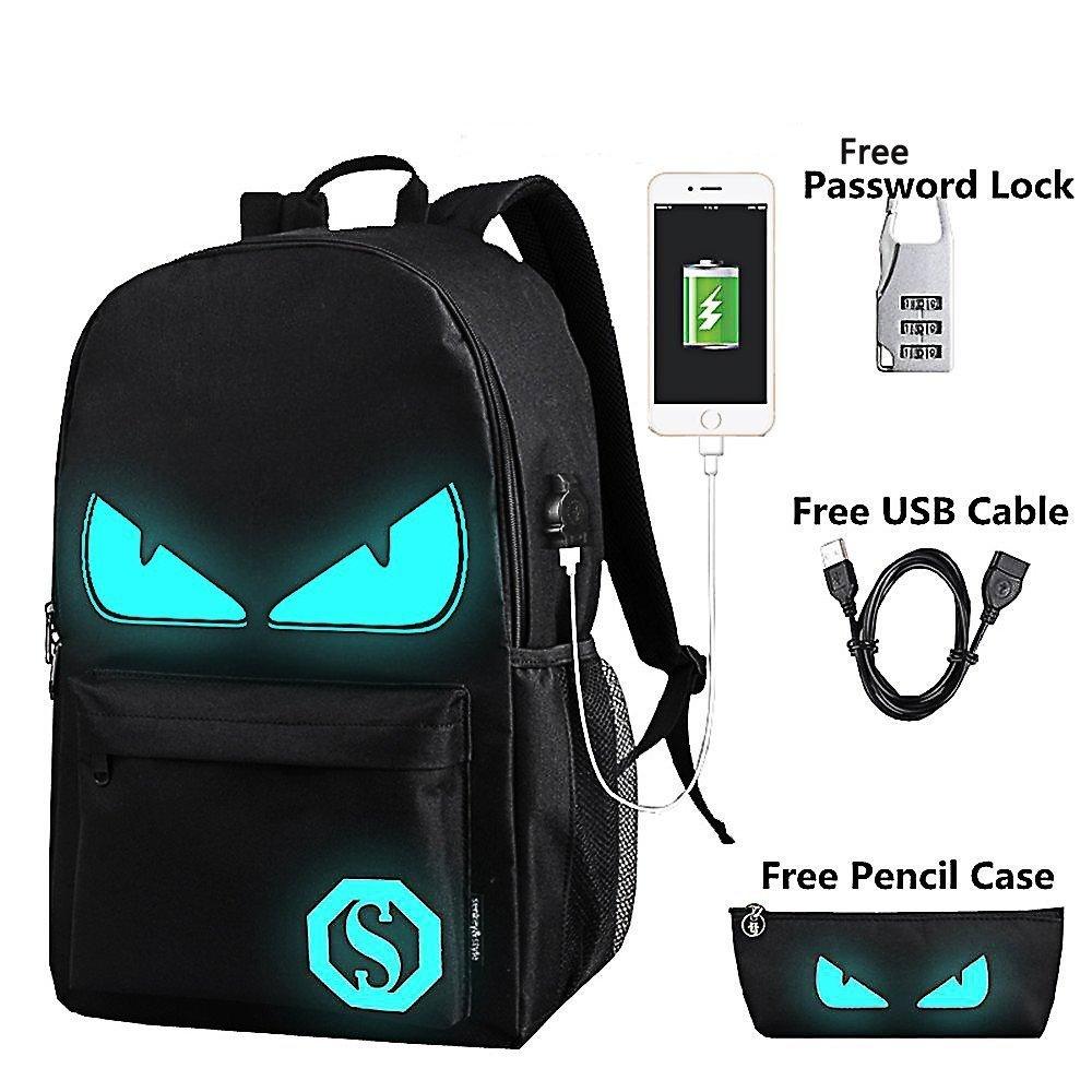 Anime Luminous Backpack Noctilucent School Bags Daypack U...