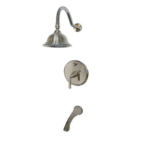 Belle Foret Artistry Single Handle Pressure Balance Tub And Shower Faucet Walmart Com Walmart Com