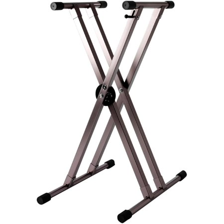 Strukture Double Braced Anodized Aluminum Keyboard Stand w/Trigger -