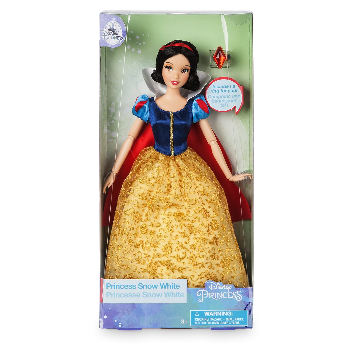 Disney Princess Snow White Classic Doll with Ring New with Box