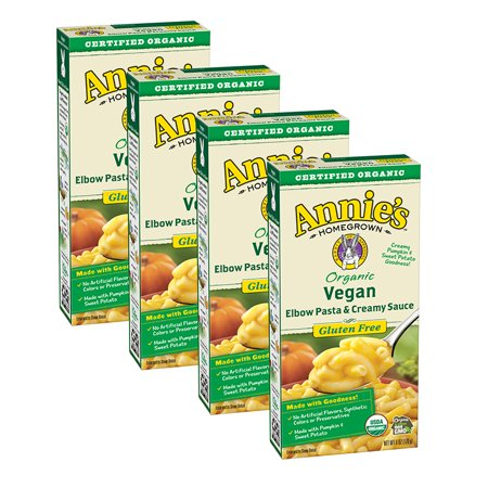 (4 Pack) Annie's Homegrown Organic Vegan Mac Elbow Rice Pasta & -