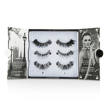 The London Edit False Lashes Multipack - # 121  # 117  # 154 (Adhesive Included) 3pairs