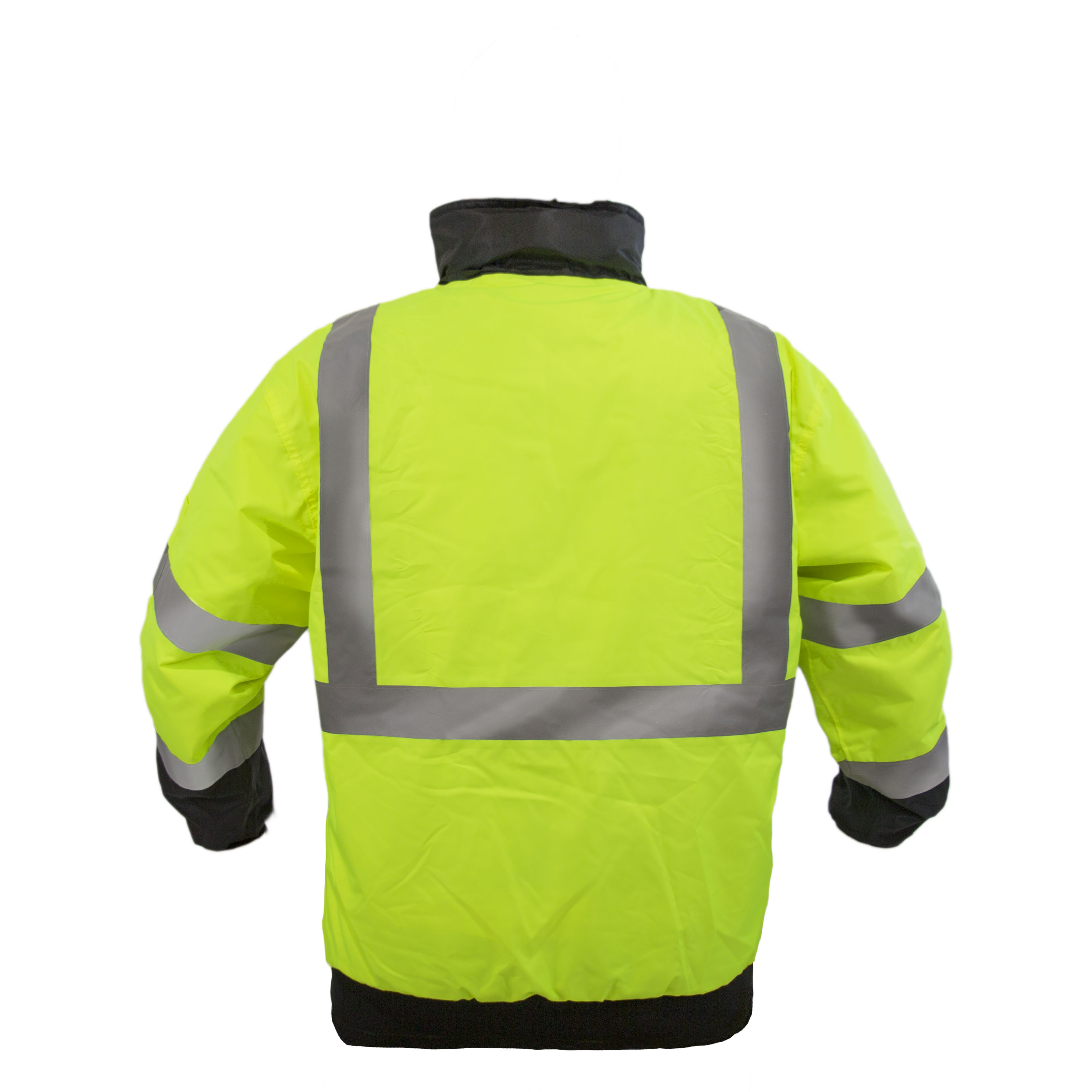 Waterproof 2X-Large, Yellow/&black VZC-J1-2XL Mens ANSI Class 3 High Visibility Bomber Safety Jacket