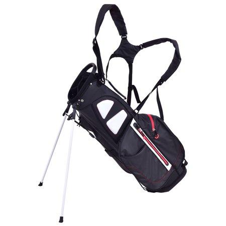 Gymax 8.5'' Golf Stand Cart Bag Club 5 Way Divider