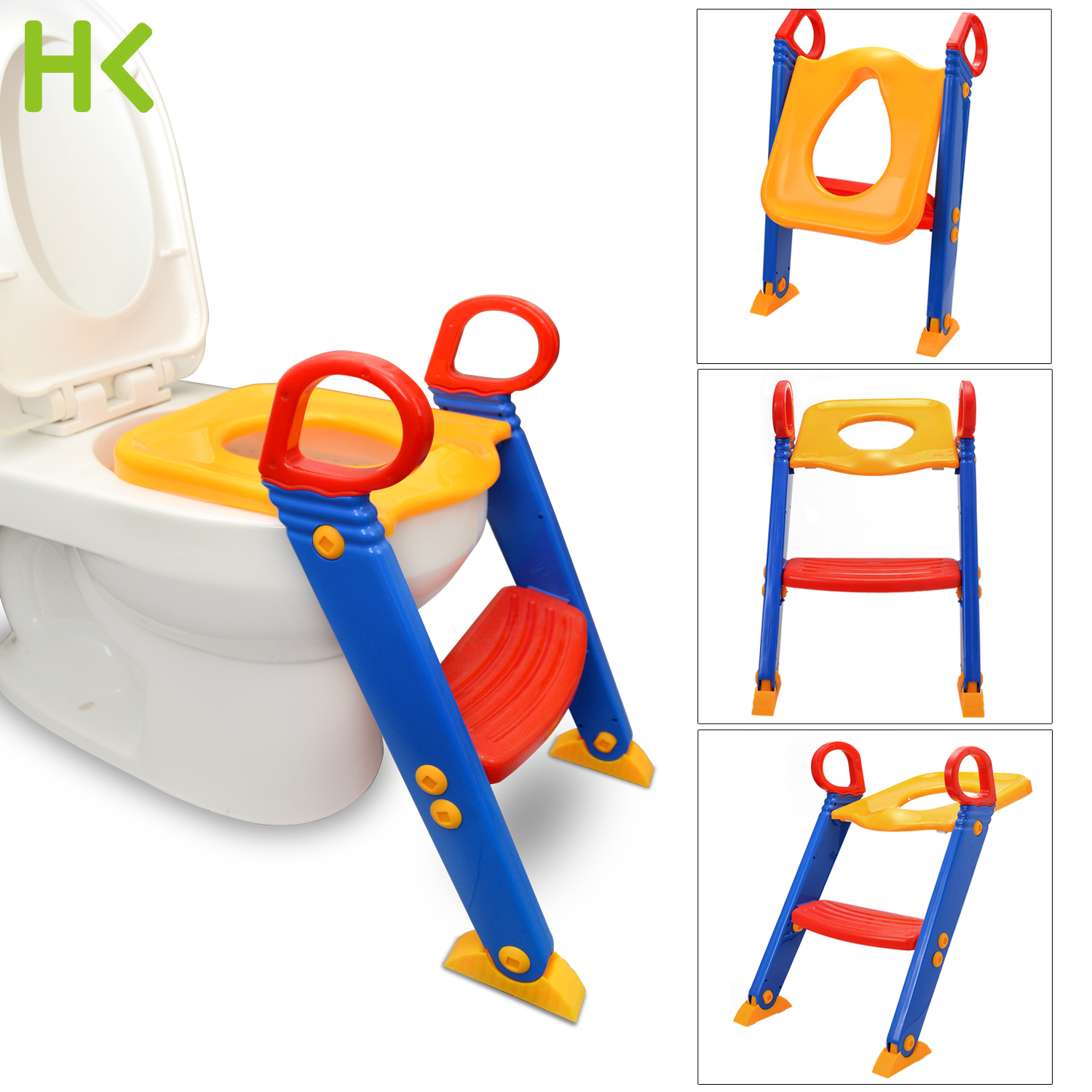 Anti Slip Potty Training Ladder Step Up Seat Toilet Contoured Cushion Training Step Stool for Kids and Toddlers