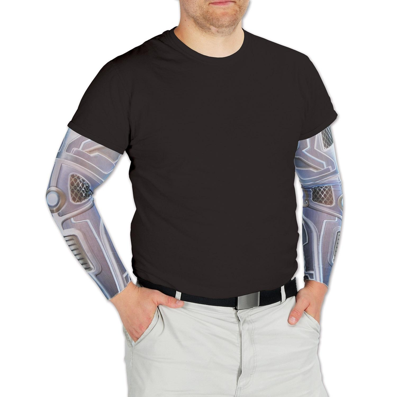 "Club Pack of 12 Halloween Space Robot Sleeves 19"""