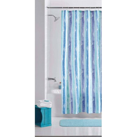 Mainstays Multi Color Embossed Stripe 70 X 72 Polyester Shower Curtain