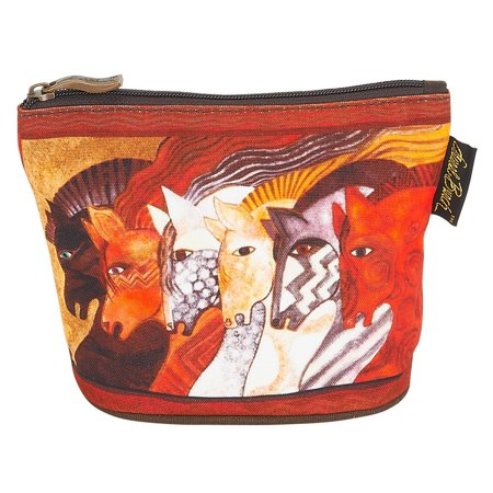 Laurel Burch Mythical Horses Cosmetic Clutch Pouch Moroccan
