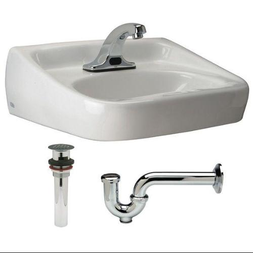 Lavatory Sink,White,Brass,7 in.Overall H ZURN Z5354.664.1.07.00.0