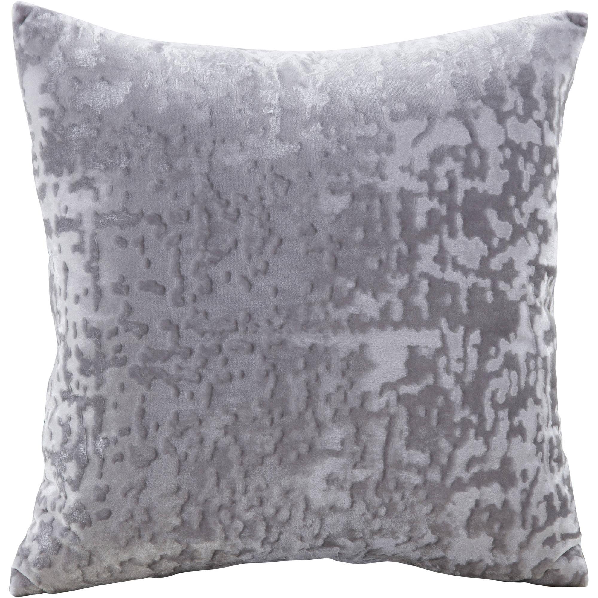 gray decorative pillows  walmartcom - mainstays velvet decorative pillow grey