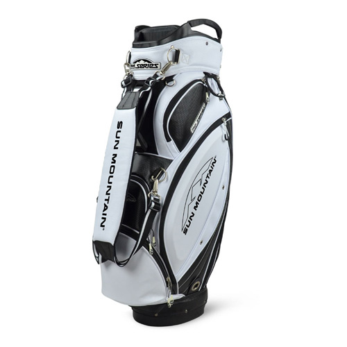 Sun Mountain 2016 Tour Series Cart Bag Black/White-CLOSEOUT