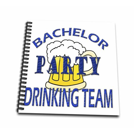 3dRose Bachelor Party Drinking team. Funny quotes. Popular saying. - Memory Book, 12 by 12-inch - Halloween Party Quotes And Sayings