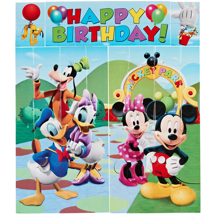 Mickey Mouse Wall Decorations, Party Supplies