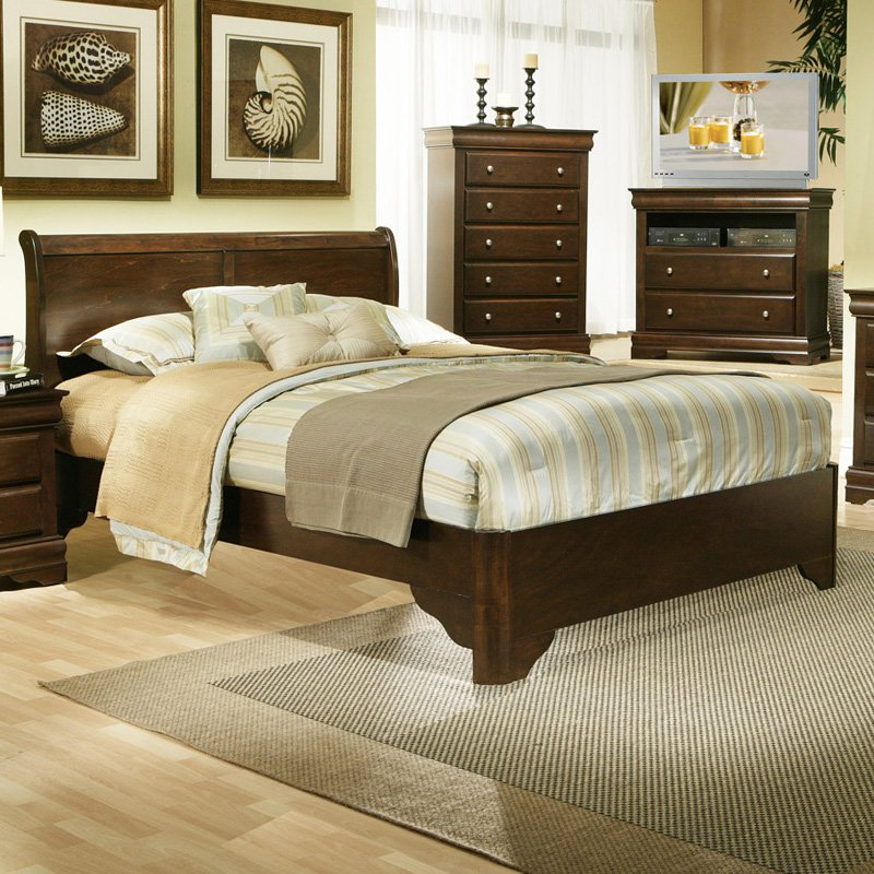 Alpine Furniture Chesapeake Sleigh Bed by Alpine Furniture Inc