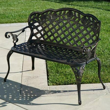 Ophelia   Co  Newfield Outdoor Metal Garden Bench