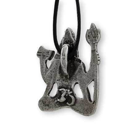 Lead-Free Pewter Hindu God Shiva Pendant w/ Cord Necklace - image 1 de 3