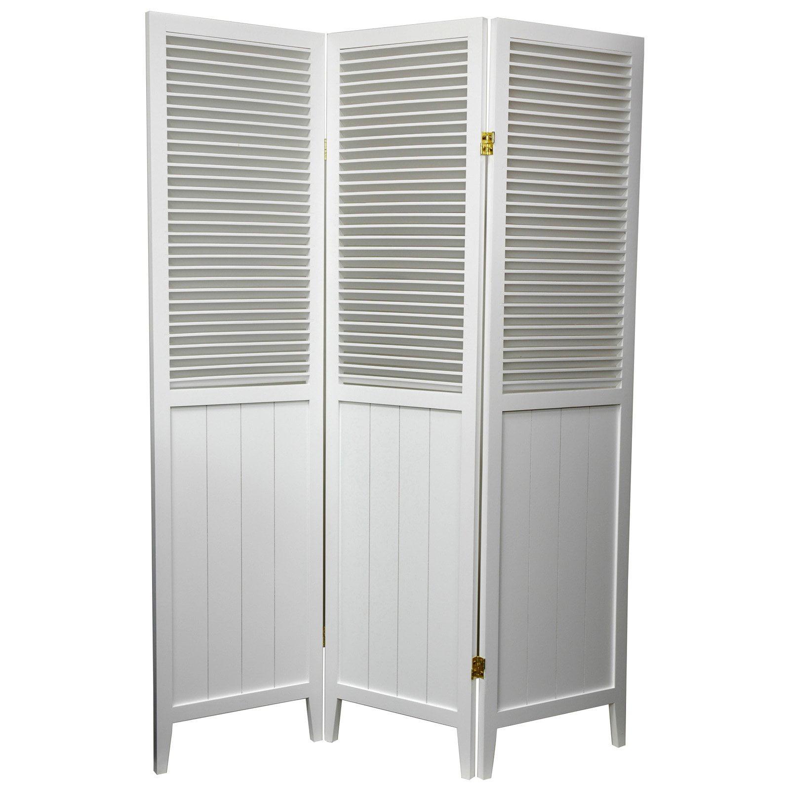 oriental furniture beadboard white room divider  walmartcom -