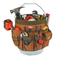 Bucket Boss 56 Pocket Bucket Tool Organizer, Brown, 10056