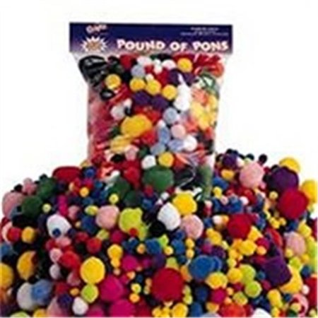 Art Supplies H242M 0.75 In. Puffy Poms, 100 - Colored M And M Candy
