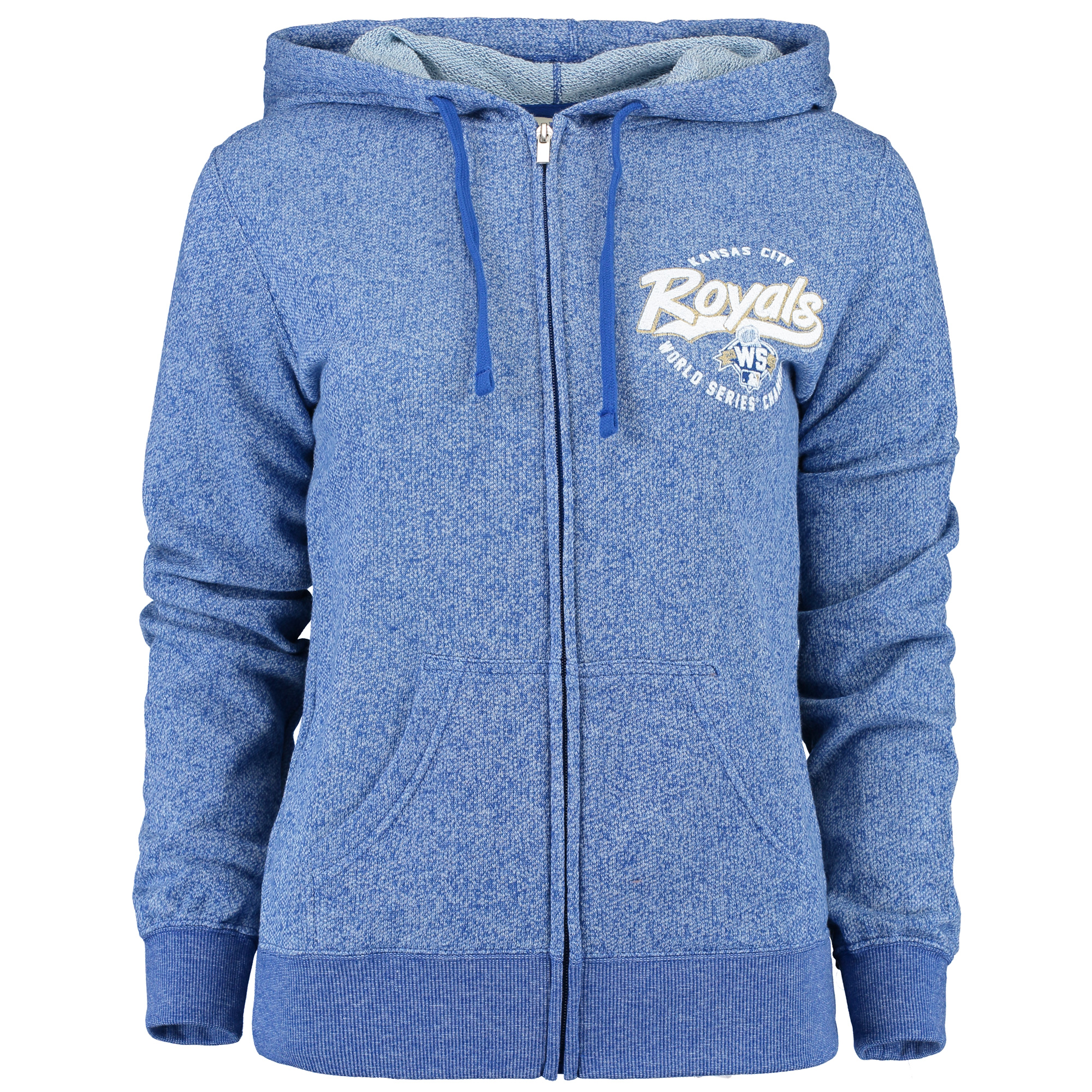 Kansas City Royals Soft as a Grape Women's 2015 World Series Full-Zip Hoodie - Royal - S