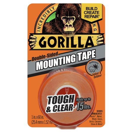 Gorilla Tough & Clear Mounting Tape, 60
