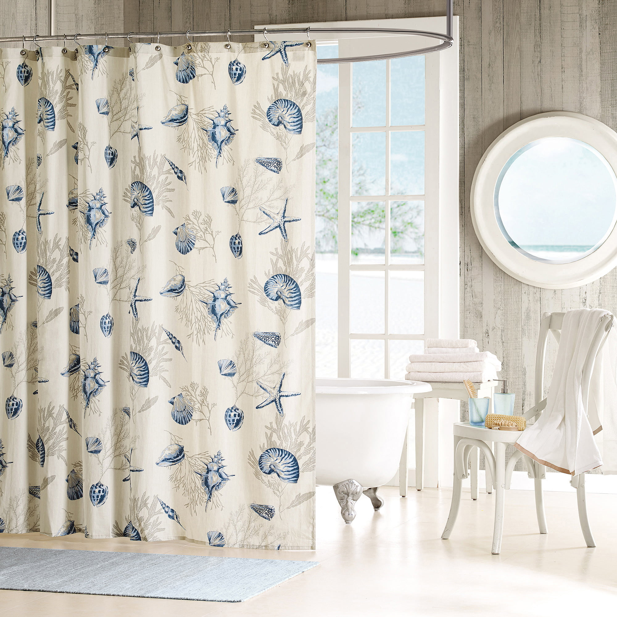 Home Essence Rockaway Cotton Shower Curtain by E&E Co. Ltd