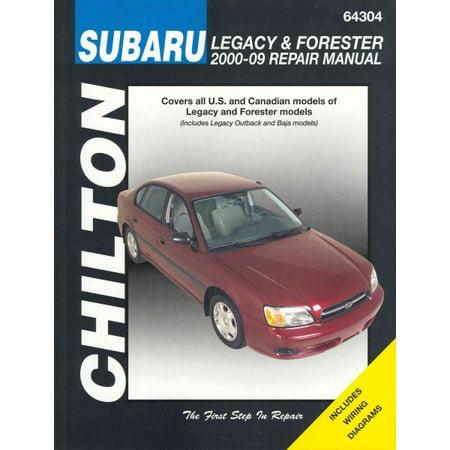 - Chilton Total Car Care Subaru Legacy 2000-2009 & Forester 2000-2008 Repair Manual