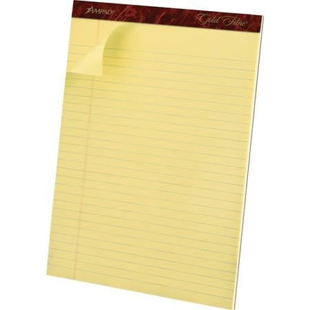 Ampad, TOP20020, Gold Fibre Premium Rule Writing Pads - Letter, 12 / Dozen Ampad Heavyweight Writing Pad