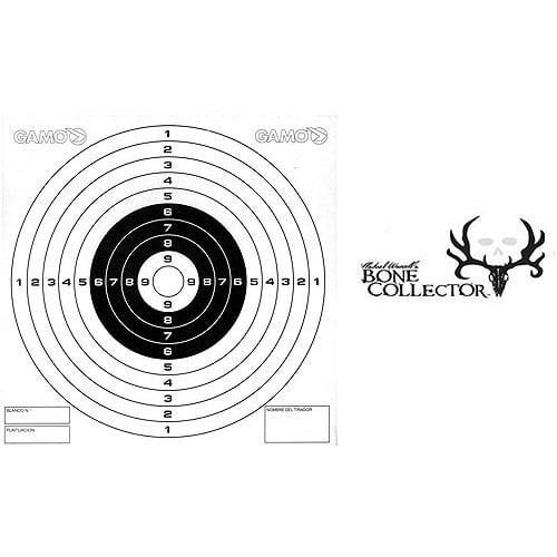 Gamo Bone Collector Bullseye Paper Targets, 100pk