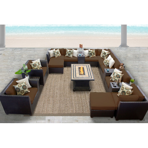 TK Classics Barbados 17 Piece Sectional Seating Group wit...