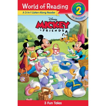 World of Reading Mickey and Friends 3-in-1 Listen-Along Reader (World of Reading Level 2) : 3 Fun Tales with CD! - Mickey And Friends