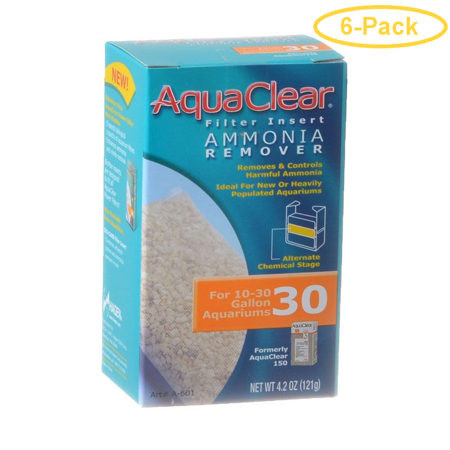 Aquaclear Ammonia Remover Filter Insert For Aquaclear 30 Power Filter - Pack of 6